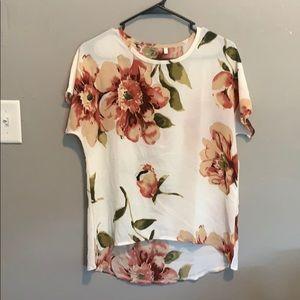 Shein hi-lo floral blouse